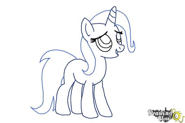 How to Draw Trixie Lulamoon from My Little Pony Friendship Is Magic DrawingNow