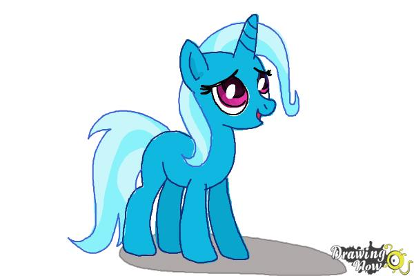 How to Draw Trixie Lulamoon from My Little Pony Friendship Is Magic - Step 9