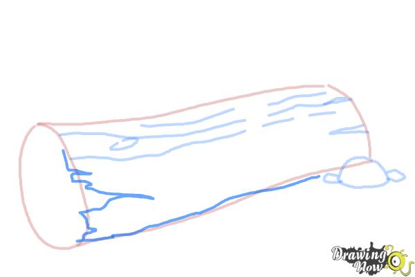 How to Draw a Log - Step 6