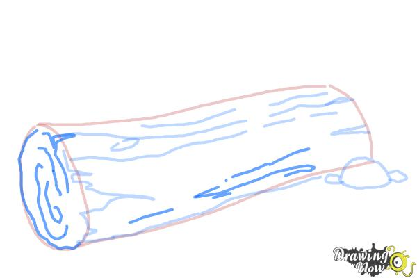 How to Draw a Log - Step 7