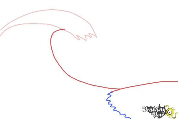 How to Draw a Wave For Kids - Step 2