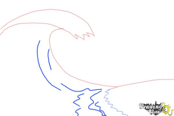 How to Draw a Wave For Kids - Step 3