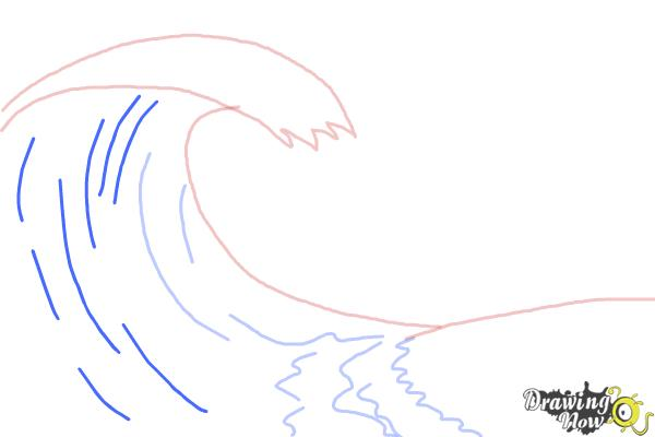 How to Draw a Wave For Kids - Step 4