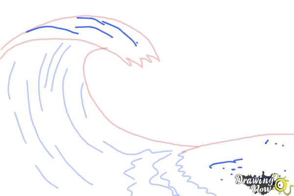 How to Draw a Wave For Kids - Step 5