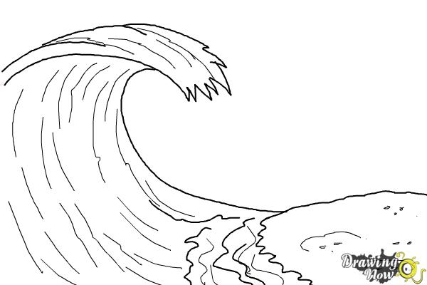 how to draw a wave for kids