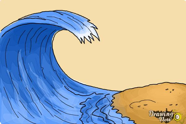 How to Draw a Wave For Kids - Step 7