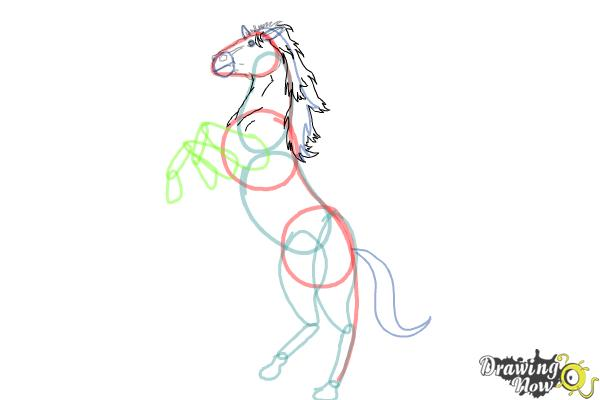 how to draw a horse body step by step