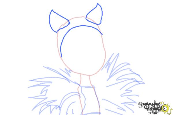 How to Draw Clawvenus from Monster High Freaky Fusion - Step 6