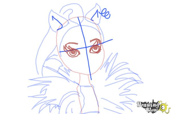 How to Draw Clawvenus from Monster High Freaky Fusion - Step 8