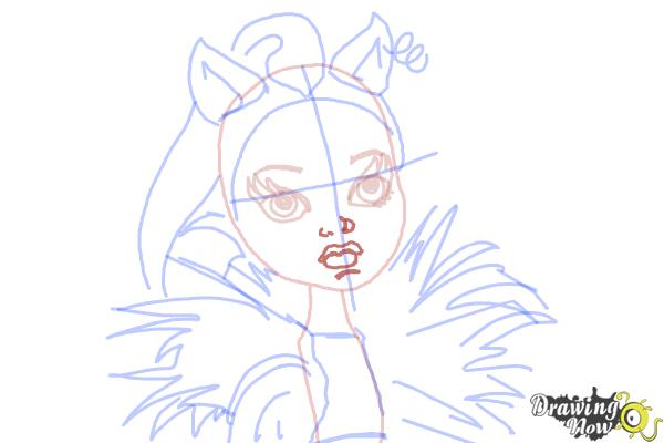 How to Draw Clawvenus from Monster High Freaky Fusion - Step 9