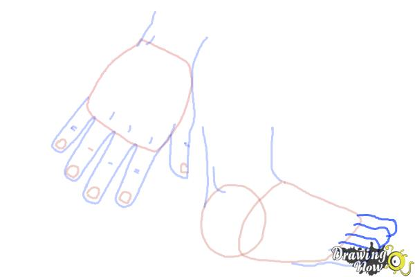 How to Draw Body Parts - Step 7