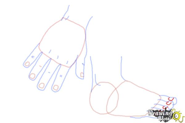 How to Draw Body Parts - Step 8