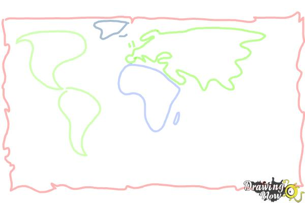 How to draw a world map drawingnow how to draw a world map step 3 gumiabroncs Image collections