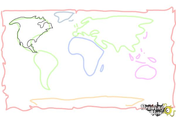 How to Draw a World Map - Step 5