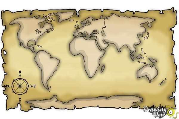 How to draw a world map drawingnow how to draw a world map step 9 gumiabroncs Image collections