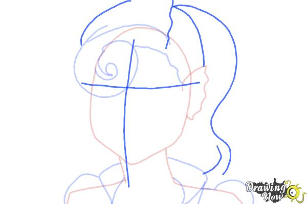 How to Draw Lagoonafire  from Monster High Freaky Fusion - Step 5