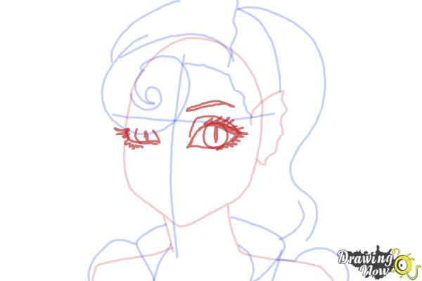 How to Draw Lagoonafire  from Monster High Freaky Fusion - Step 6