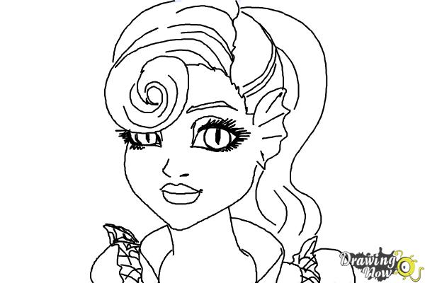 How to Draw Lagoonafire  from Monster High Freaky Fusion - Step 9