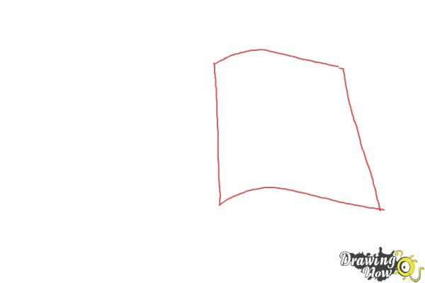 How to Draw an Open Book - Step 1