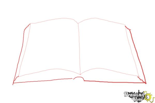 Book Cover Drawing Easy : How to draw an open book drawingnow