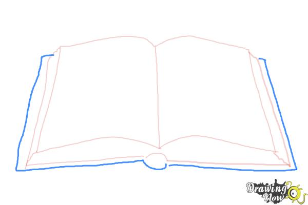 How to Draw an Open Book - Step 4