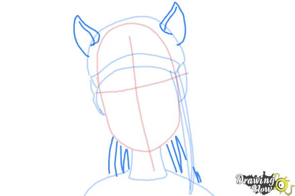 How to Draw Neighthan Rot from Monster High Freaky Fusion - Step 5