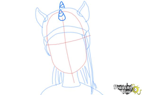 How to Draw Neighthan Rot from Monster High Freaky Fusion - Step 6