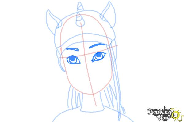 How to Draw Neighthan Rot from Monster High Freaky Fusion - Step 7