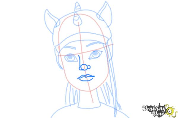 How to Draw Neighthan Rot from Monster High Freaky Fusion - Step 8