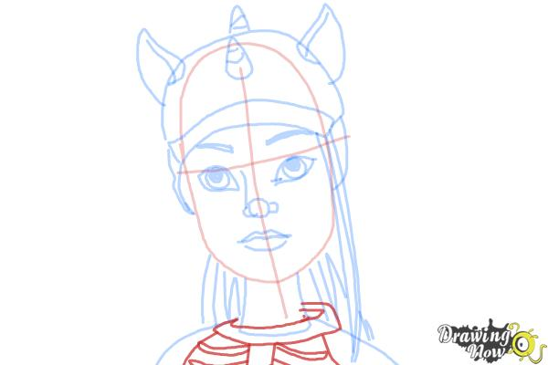 How to Draw Neighthan Rot from Monster High Freaky Fusion - Step 9