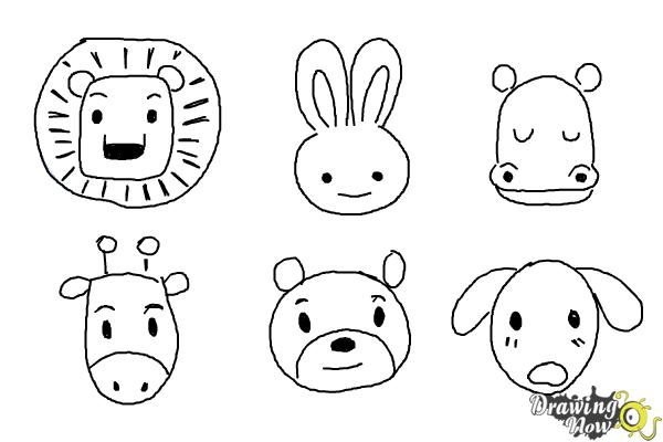 How To Draw Animals For Kids Drawingnow