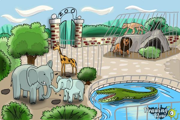 How to Draw a Zoo - Step 11