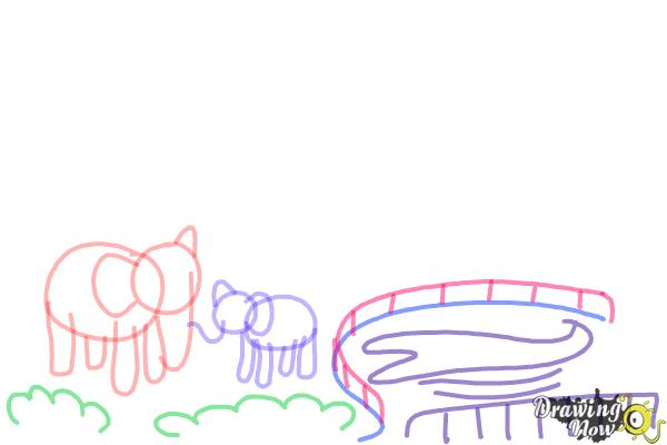 How to Draw a Zoo - Step 5