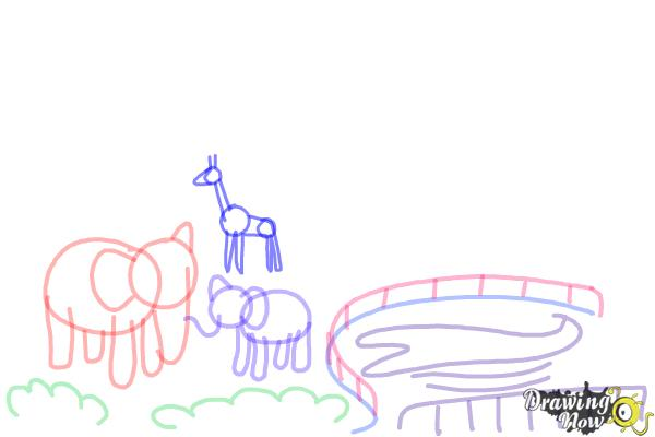 How to Draw a Zoo - Step 6