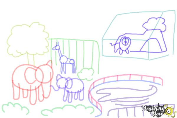 How to Draw a Zoo - Step 8