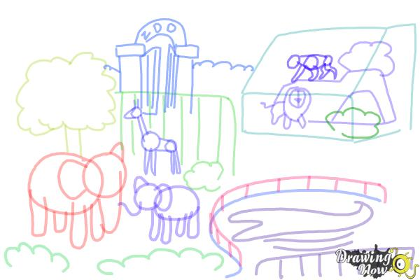 How to Draw a Zoo - Step 9