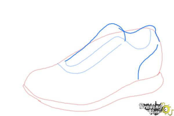 How to Draw Running Shoes - Step 4
