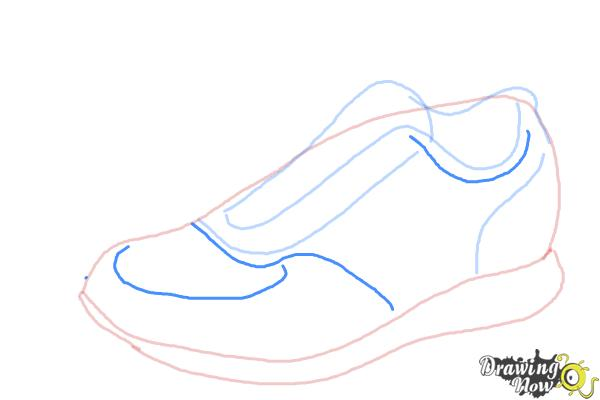 How to Draw Running Shoes - Step 5