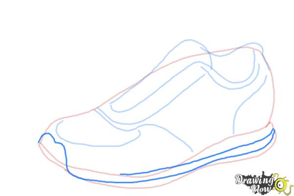 How to Draw Running Shoes - Step 6