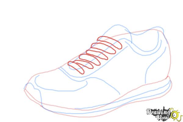 How To Draw Running Shoes Drawingnow