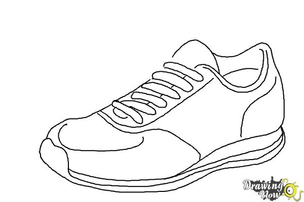 c2281aa661a4 How to Draw Running Shoes - DrawingNow