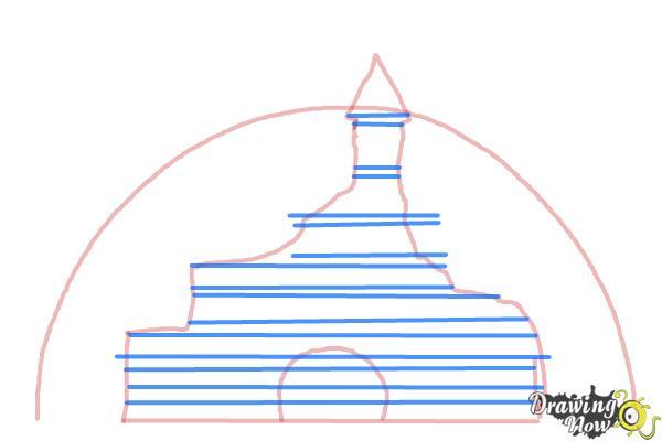 How to Draw The Disney Logo - Step 3
