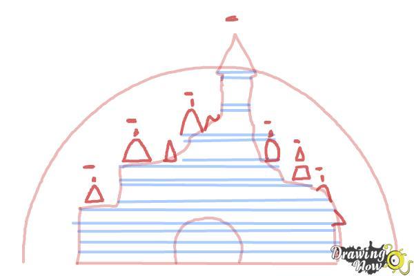 How to Draw The Disney Logo - Step 4