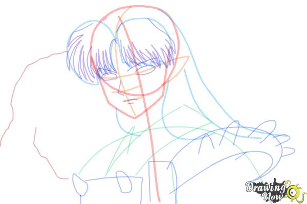 How to Draw Sesshomaru from Inuyasha - Step 10