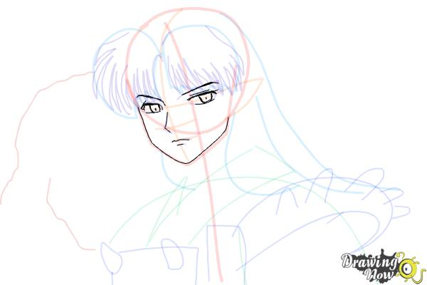 How to Draw Sesshomaru from Inuyasha - Step 11