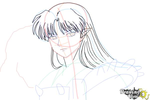 How to Draw Sesshomaru from Inuyasha - Step 12