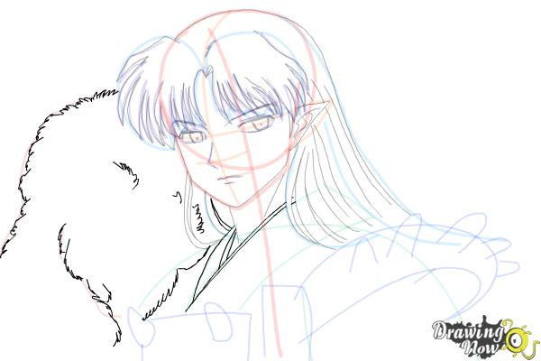 How to Draw Sesshomaru from Inuyasha - Step 13