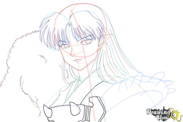 How to Draw Sesshomaru from Inuyasha - Step 14