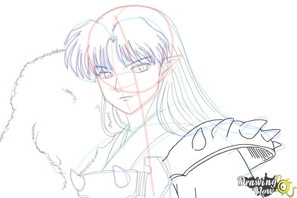 How to Draw Sesshomaru from Inuyasha - Step 15