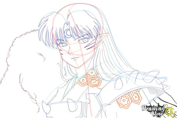 How to Draw Sesshomaru from Inuyasha - Step 16